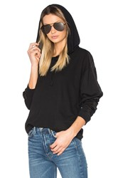 Project Social T Moto Satin Trim Hoodie Black