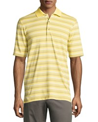 Bobby Jones Short Sleeve Striped Polo Shirt Lemon Yellow