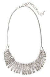 Women's Sole Society Crescent Link Statement Necklace