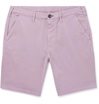 Paul Smith Ps Slim Fit Cotton Blend Twill Shorts Lilac