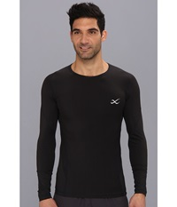 Cw X Long Sleeve Traxter Recovery Top Black Men's Long Sleeve Pullover