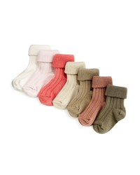 Bonpoint Ribbed Knit Sock Set Pink