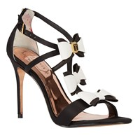Ted Baker Appolini Bow Stiletto Sandals Black White
