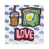 Stoney Clover Lane Coffee Toast Love Stick On Patches Multi