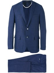 Corneliani Two Piece Suit Men Cupro Virgin Wool 52 Blue