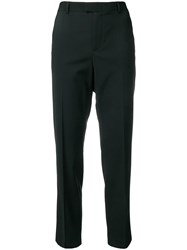 Red Valentino Cropped Length Tailored Trousers Black
