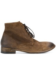 The Last Conspiracy Distressed Ankle Boots Leather Suede Brown