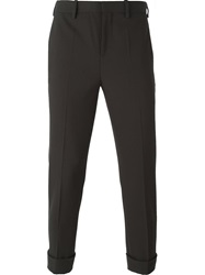 Neil Barrett Cropped Slim Trousers Green