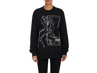 Givenchy Women's Graphic Cotton Sweatshirt Black