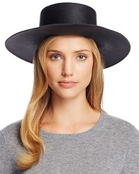 Yestadt Millinery Millenery Division Flat Top Hat 100 Bloomingdale's Exclusive Charcoal