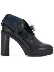 Tommy Hilfiger Lace Up Heeled Boots Blue