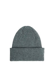 Paul Smith Ribbed Knit Cashmere Beanie Hat Grey