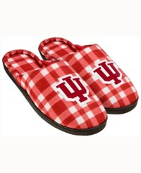 Forever Collectibles Indiana Hoosiers Flannel Slide Slippers Red