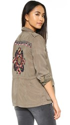 Pam And Gela Parka With Embroidery Army