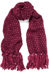 Karl Lagerfeld Knitted Scarf Burgundy