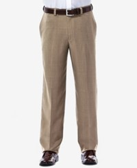Haggar Eclo Stria Classic Fit Dress Pants Khaki