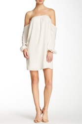 Voom By Joy Han Nina Solid Off The Shoulder Dress White