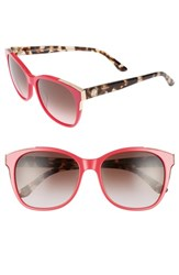 Juicy Couture 'S Black Label 56Mm Cat Eye Sunglasses Coral