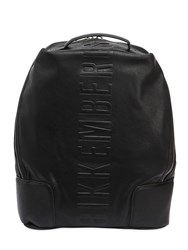 Bikkembergs Small Army Faux Leather Backpack Black