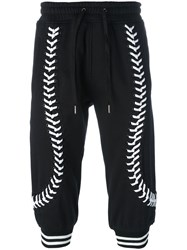 Ktz Laced Up Cropped Trousers Black