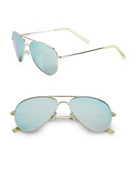 Polaroid 60Mm Aviator Sunglasses Powder Blue