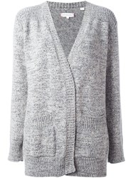 Chinti And Parker Flecked Marl Cardigan Grey