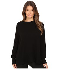 The Kooples 100 Cashmere Sweater With Destroy Details Black Women's Sweater