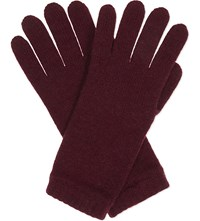 Johnstons Knitted Cashmere Gloves Boysenberry