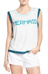 Wildfox Couture Women's Wildfox 'Mermaid' Glitter Graphic Tank