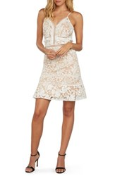 Willow And Clay Embroidered Mesh Minidress Ivory
