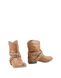 Francesco Milano Ankle Boots Camel