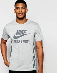 Nike Track And Field Logo T Shirt 739495 063 Grey