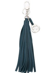 Gucci 'Interlocking G' Tassel Key Ring Blue