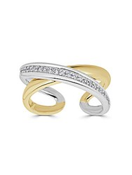 Saks Fifth Avenue Diamond And 14K Gold X Ring