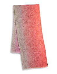 Fraas Paisley Ombre Scarf Pink