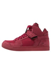 K1x Encore Hightop Trainers Burgundy Red