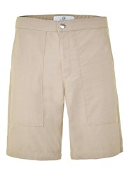 Topman Stone Slim Fit Utility Chino Shorts