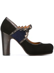Chie Mihara Chunky Heel Mary Jane Shoes Black