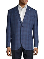 Lubiam Glen Check Wool Sportcoat Navy