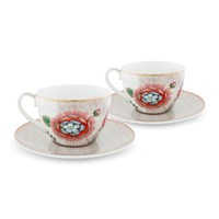 Pip Studio Spring To Life Cappuccino Cup And Saucer Set Of 2 Cream