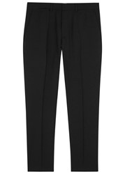 Mcq By Alexander Mcqueen Black Tapered Leg Wool Trousers