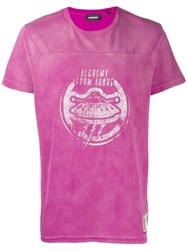 Diesel Alchemy From Above T Shirt Pink