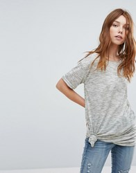 Oeuvre T Shirt With Knot Detail Green