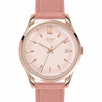 Henry London Ladies' Shoreditch Leather Strap Watch Rose Gold Nude Neutrals