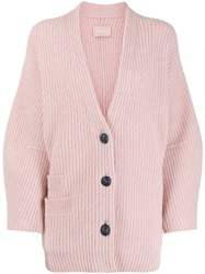 Zadig And Voltaire Austin Cable Knit Cardigan Pink