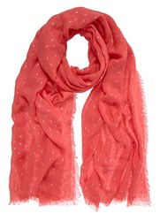 Mint Velvet Lightening Print Scarf Pink