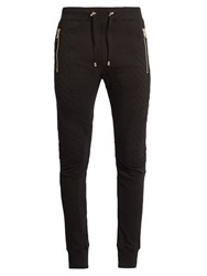 Balmain Biker Cotton Track Pants Black