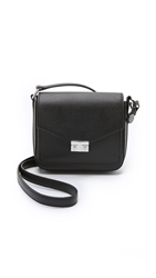 Tory Burch T Lock Mini Flap Cross Body Bag Black