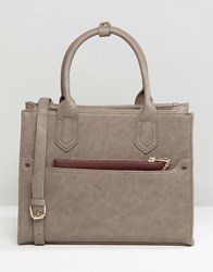 Oasis Tote Bag With Detachable Purse Grey