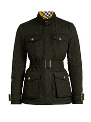 Burberry Haddington Quilted Jacket Green
